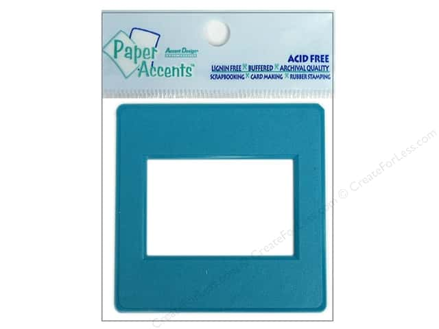 Paper Accents Slide Frame 5 pc Turquoise