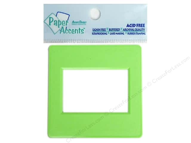 Paper Accents Slide Frame 5 pc Lime Green