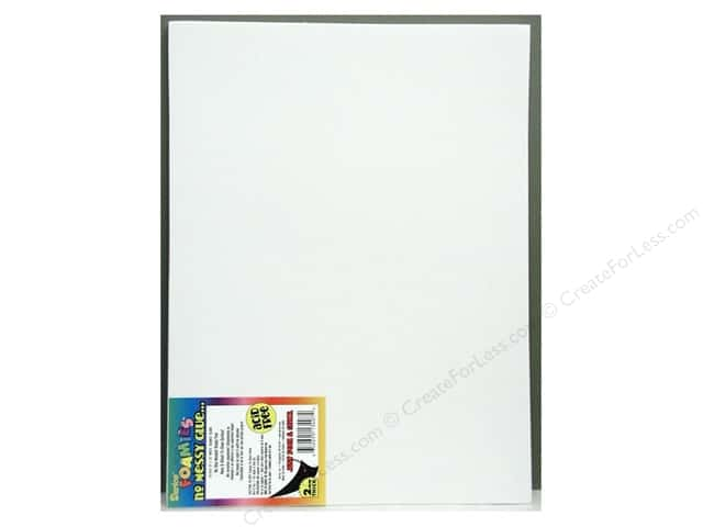 Foamies Sticky Back Sheets 9 x 12 in. 2 mm. White (10 sheets)