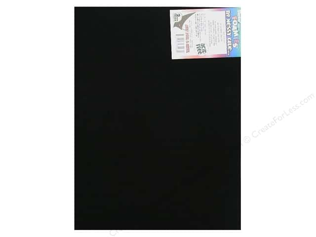 Darice Foamies Sticky Back Sheets 9 x 12 in. 2 mm. Black (10 sheets)