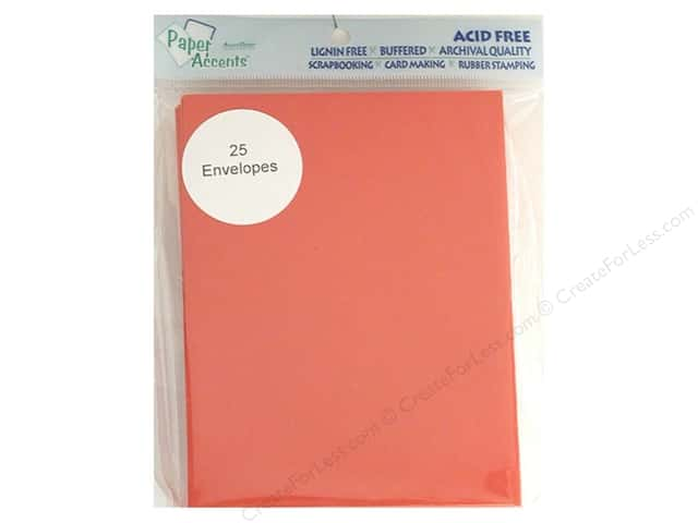 4 1/4 x 5 1/2 in. Envelopes by Paper Accents 25 pc. #101 Red