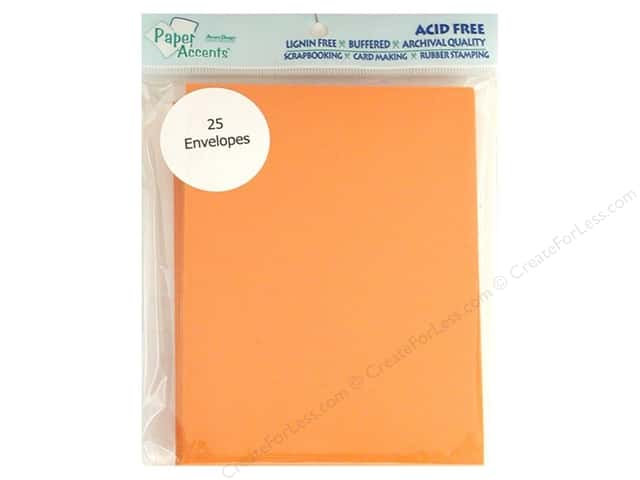 4 1/4 x 5 1/2 in. Envelopes by Paper Accents 25 pc. #104 Orange
