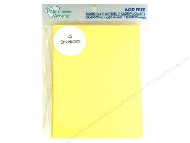 4 1/4 x 5 1/2 in. Envelopes by Paper Accents 25 pc. #105 Canary Yellow