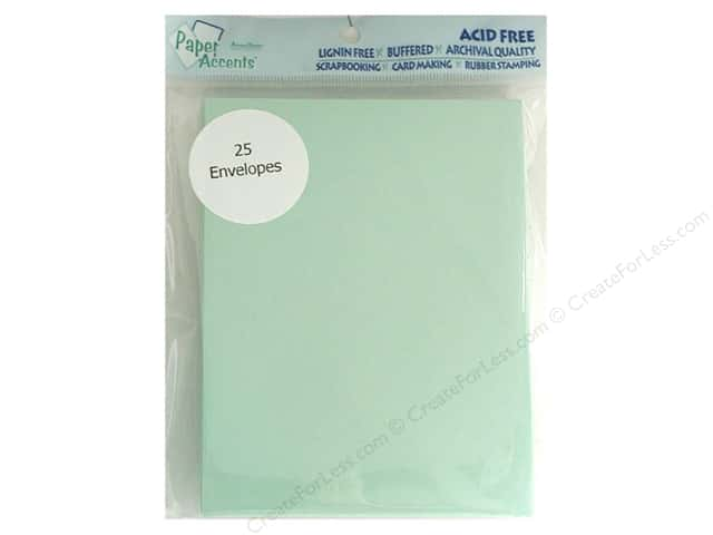 4 1/4 x 5 1/2 in. Envelopes by Paper Accents 25 pc. #118 Green