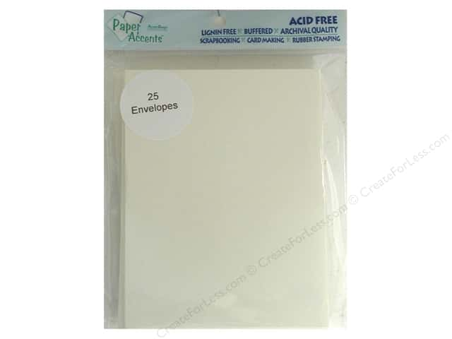 4 1/4 x 5 1/2 in. Envelopes by Paper Accents 25 pc. #119 Cream