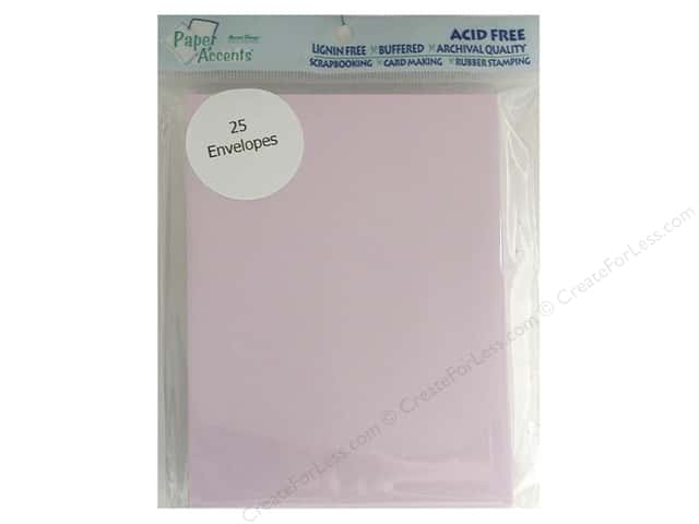 4 1/4 x 5 1/2 in. Envelopes by Paper Accents 25 pc. #123 Lavender