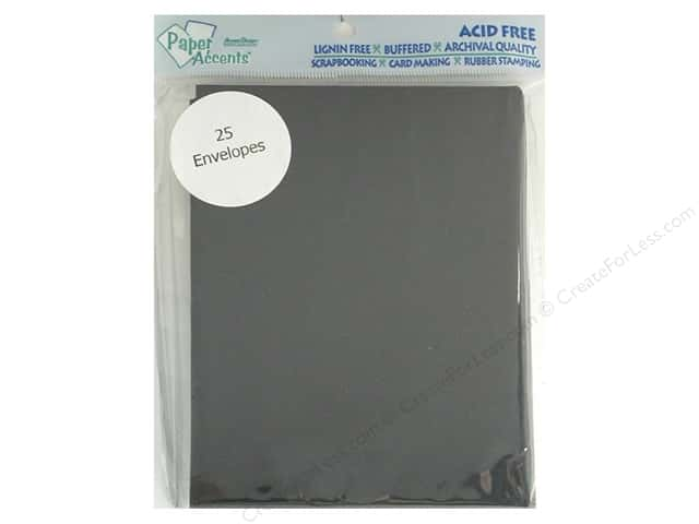 4 1/4 x 5 1/2 in. Envelopes by Paper Accents 25 pc. #127 Black