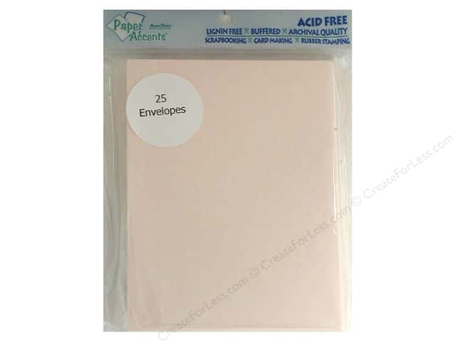 4 1/4 x 5 1/2 in. Envelopes by Paper Accents 25 pc. #206 Parchment Pink