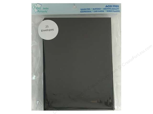 5 x 7 in. Envelopes by Paper Accents 25 pc. #127 Black