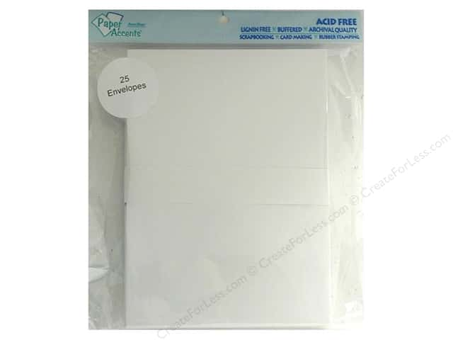 5 x 7 in. Envelopes by Paper Accents 25 pc. #128 White
