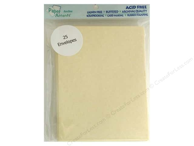 4 1/4 x 5 1/2 in. Envelopes by Paper Accents 25 pc. #211 Parchment Gold