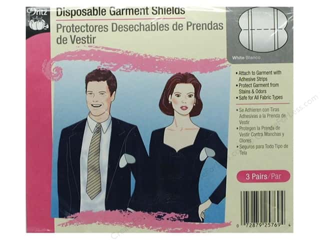 Disposable Garment Shields by Dritz White with Adhesive Strips