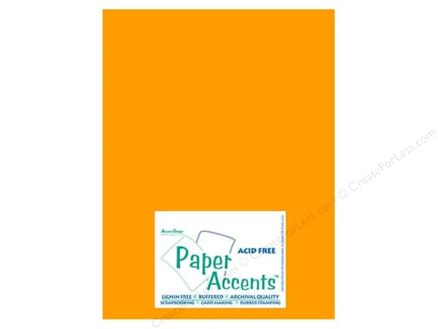 Cardstock 8 1/2 x 11 in. #10044 Stash Builder Egg Yolk by Paper Accents (25 sheets)
