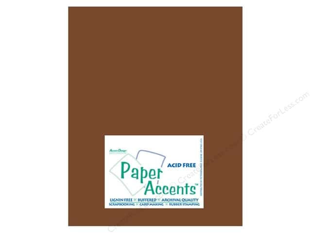 Cardstock 8 1/2 x 11 in. #10066 Smooth Espresso by Paper Accents (25 sheets)