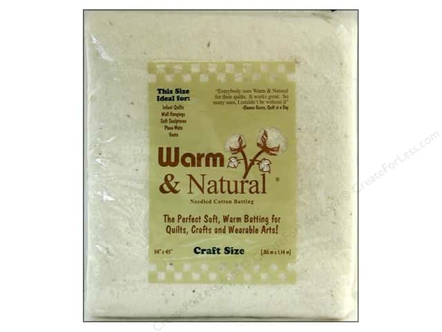 The Warm Company Warm and Natural Cotton Batting Craft 34 x 45 in.