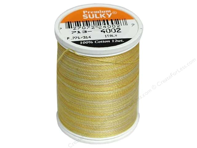 Sulky Blendables Cotton Thread 12 wt. 330 yd. #4002 Buttercream