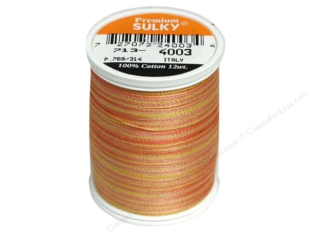 Sulky Blendables Cotton Thread 12 wt. 330 yd. #4003 Sunset