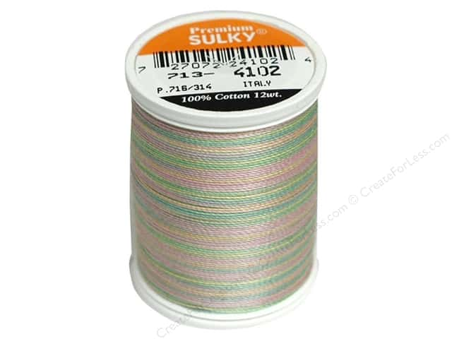 Sulky Blendables Cotton Thread 12 wt. 330 yd. #4102 Spring Garden
