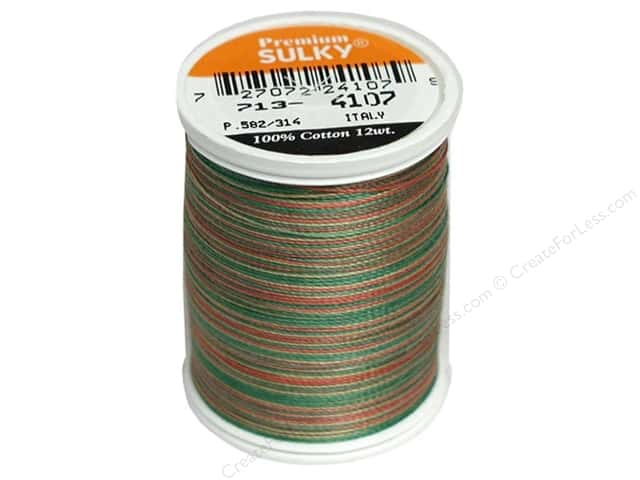 Sulky Blendables Cotton Thread 12 wt. 330 yd. #4107 Antique Christmas