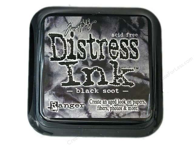 Tim Holtz Distress Ink Pad by Ranger Black Soot