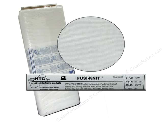 HTC Fusi-Knit Tricot Interfacing 20 in. White (30 yards)