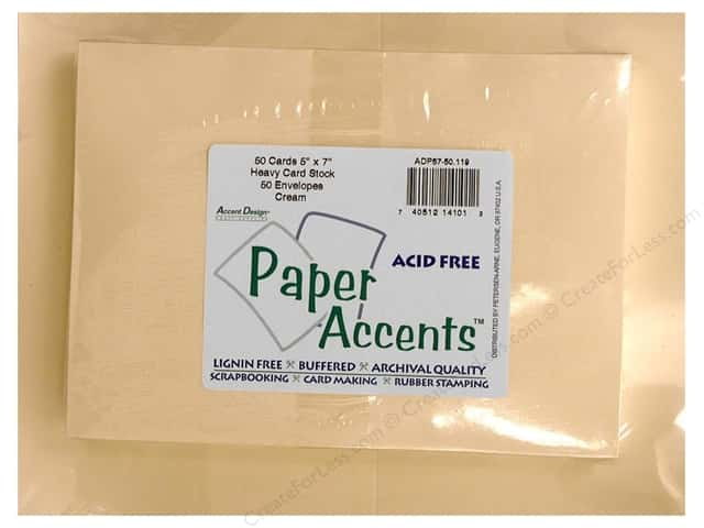 Paper Accents 5 x 7 in. Blank Card & Envelopes 50 pc. #119 Cream