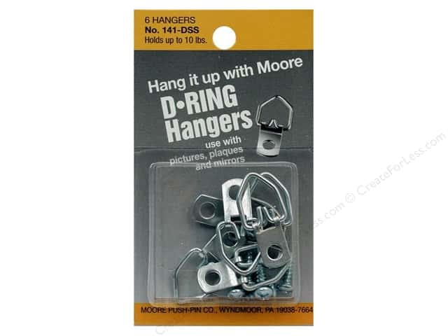 Moore D Ring Small 1 Screw 6 pc