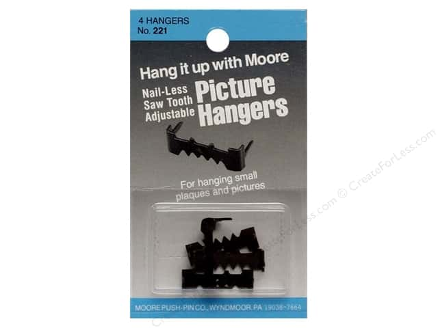 Moore Picture Hangers Saw Tooth with out Nails 4 pc.