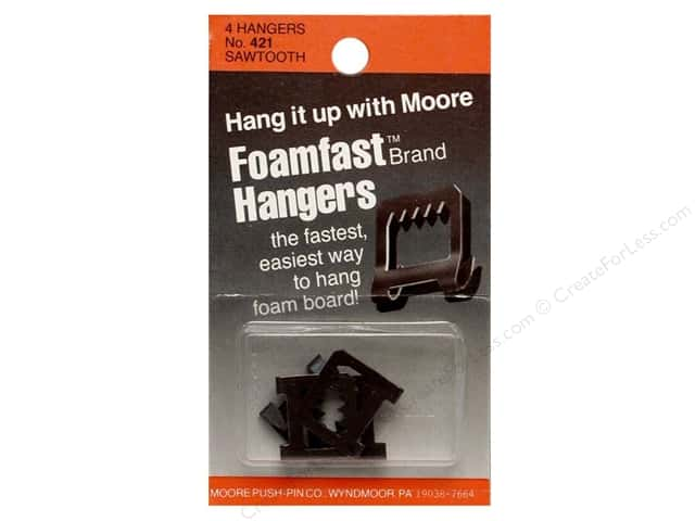 Moore Picture Hangers Foamfast Saw Tooth 4pc