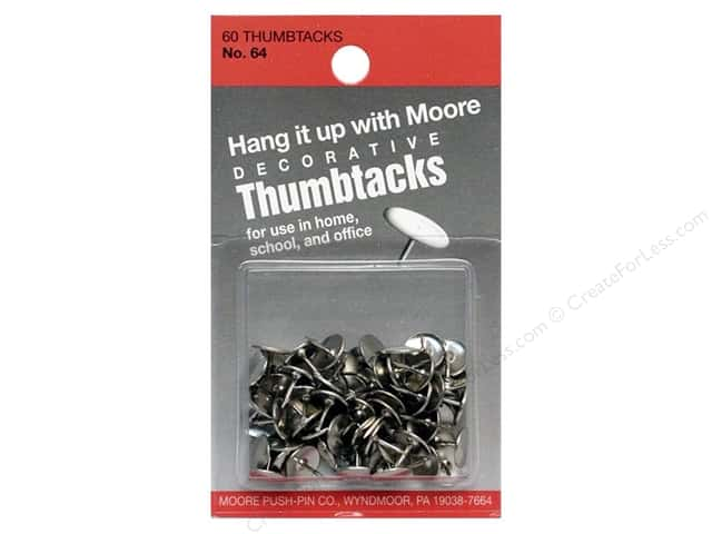 Moore Thumb Tack Decorative Nickel 60 pc