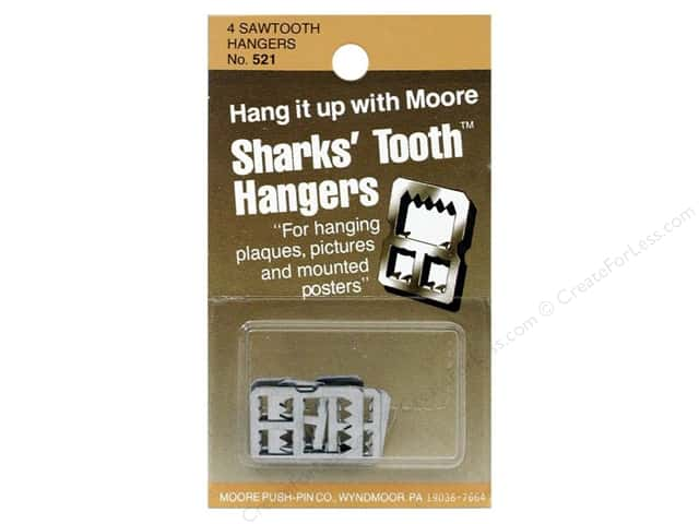 Moore Sharks' Tooth Hangers Saw Tooth 4 pc