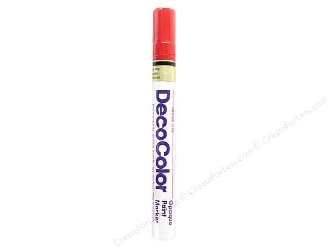 Uchida DecoColor Opaque Paint Marker Broad Point Red