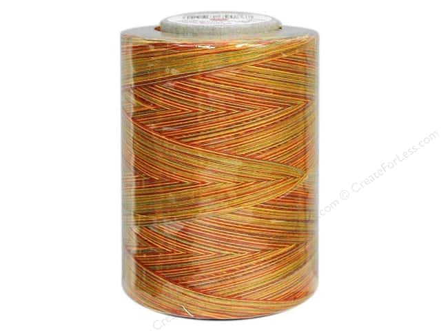 Coats & Clark Star Variegated Mercerized Cotton Quilting Thread 1200 yd. #821 Fall Leaves
