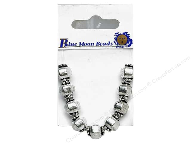 Blue Moon Beads Metal Round with Cuffs 9pc Silver