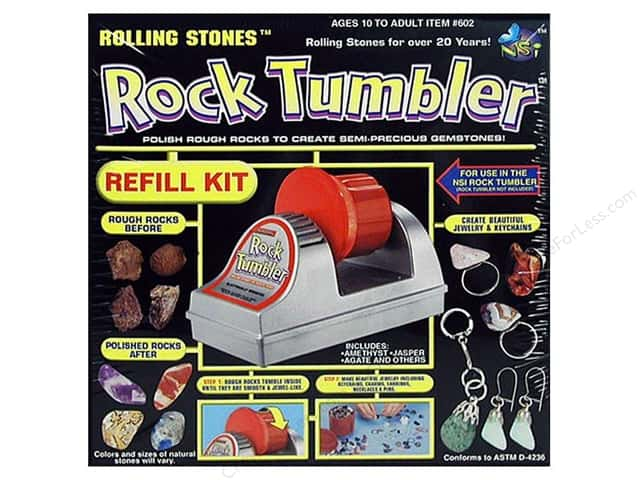 NSI Activity Kit Rolling Stones Rock Tumbler Refill
