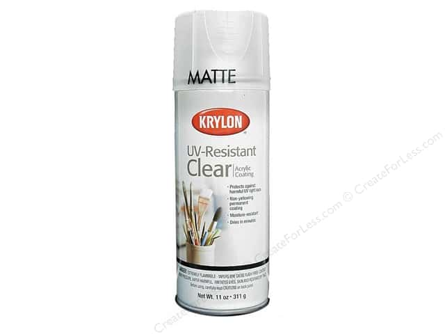 krylon uv resistant clear coating 11 oz matte