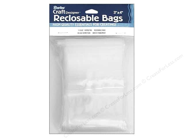 Darice Craft Designer Reclosable Storage Bags 3 x 4 in. 100 pc. Clear