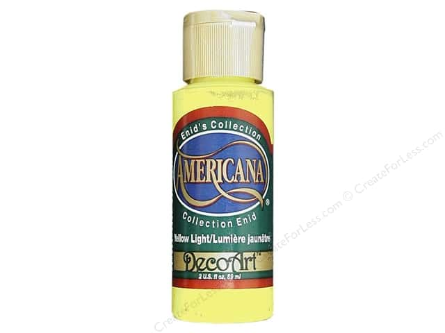 DecoArt Americana Acrylic Paint 2 oz. #144 Enid's Yellow Light