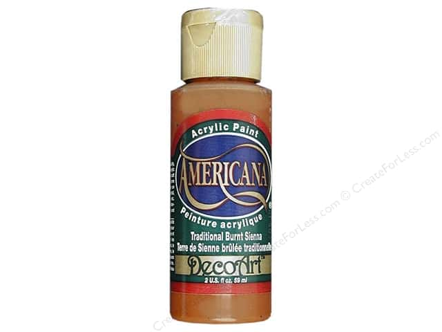 DecoArt Americana Acrylic Paint 2 oz. #223 Traditional Burnt Sienna