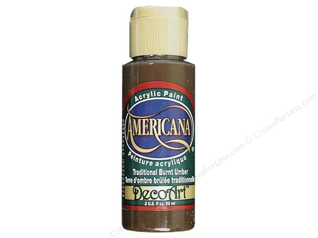 DecoArt Americana Acrylic Paint 2 oz. #221 Traditional Burnt Umber