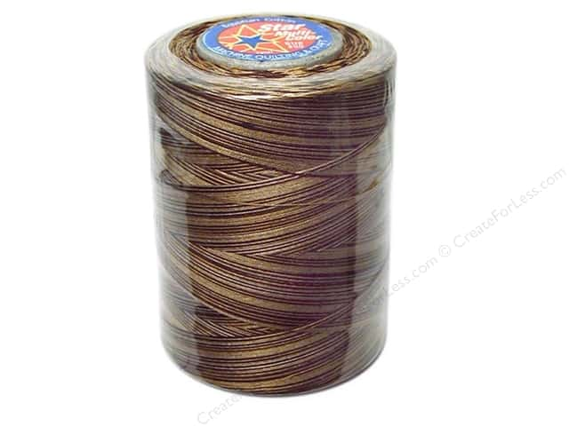 Coats & Clark Star Variegated Mercerized Cotton Quilting Thread 1200 yd. #828 Chocolate Swirl