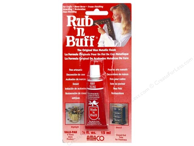Amaco Rub-N-Buff 1/2 oz. Ruby