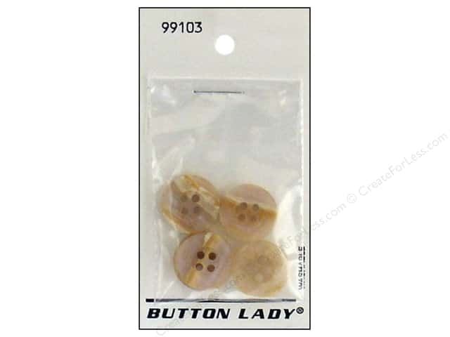 JHB Button Lady Buttons 5/8 in. Beige #99103 5 pc.
