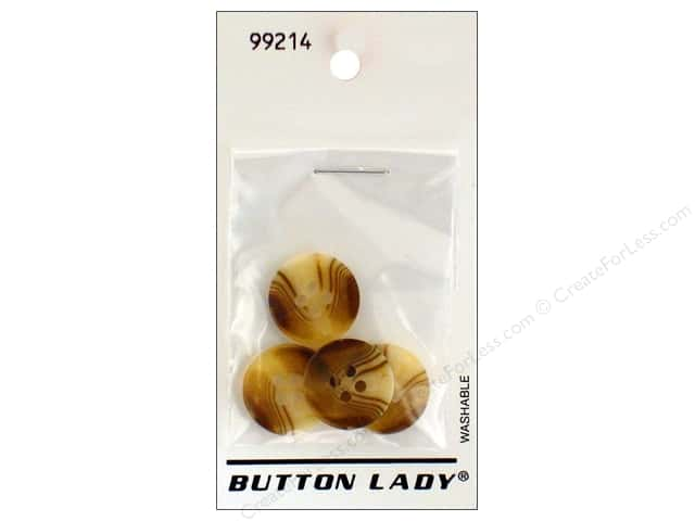 JHB Button Lady Buttons 5/8 in. Brown & Cream #99214 4 pc.