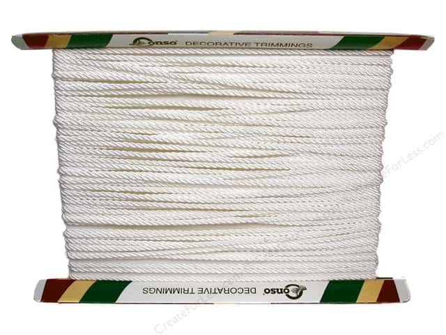 "Conso Princess Twisted Cord 3/16""  White (36 yards)"
