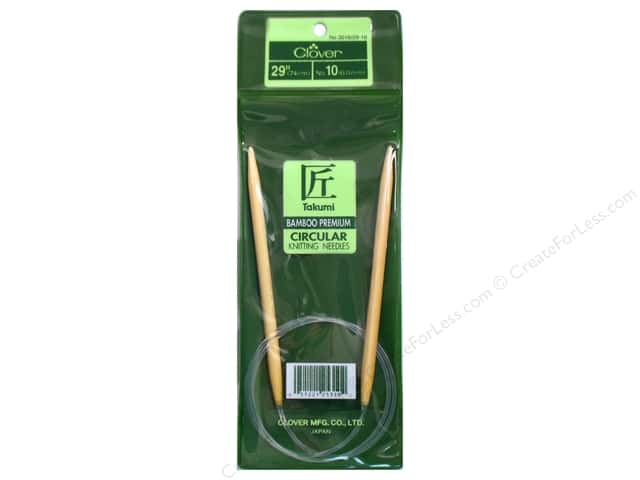 Clover Bamboo Circular Knitting Needle 29 in. Size 10 (6 mm)