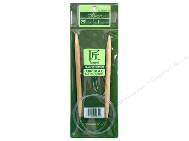 Clover Bamboo Circular Knitting Needle 29 in. Size 11 (8 mm)