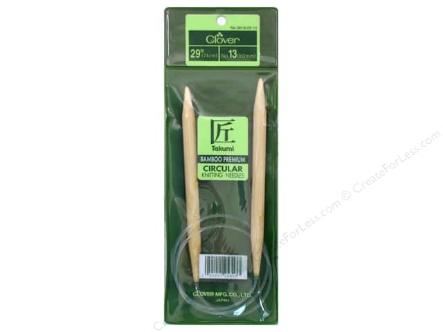 Clover Bamboo Circular Knitting Needle 29 in. Size 13 (9 mm)