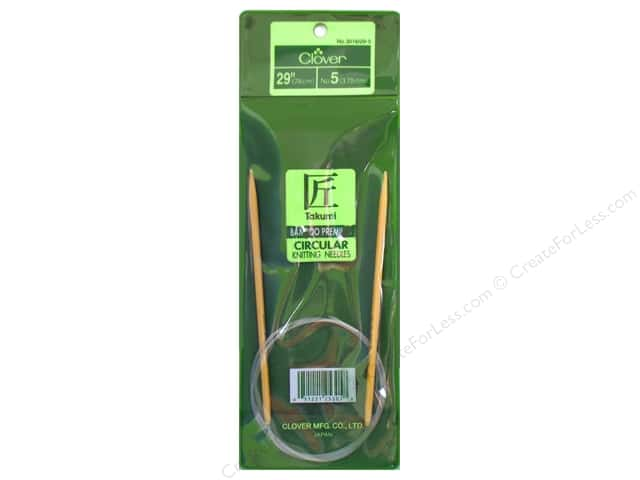 Clover Bamboo Circular Knitting Needle 29 in. Size 5 (3.75 mm)