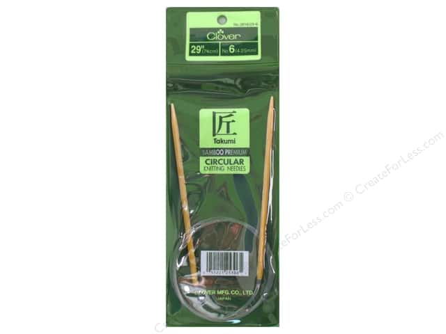 Clover Bamboo Circular Knitting Needle 29 in. Size 6 (4mm)